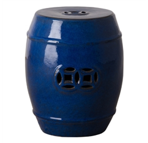 Blue Fortune Garden Stool