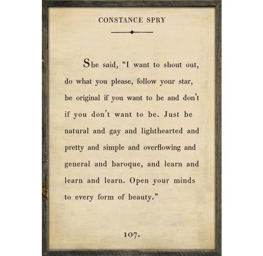 The Book Collection Constance Spry Art Print