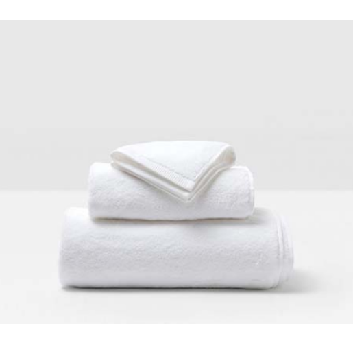 Geneva White Bath Towels from belleandjune.com | Towels