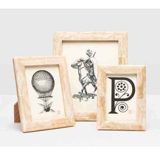 Miles Stone Picture Frames from belleandjune.com | tabletop frams