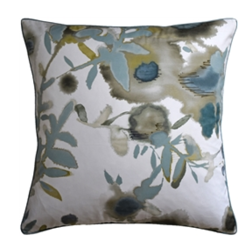 Open Spaces Beige and Teal Decorative Pillow