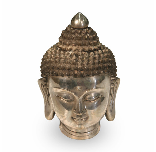 Bronze Buddha Head Chrome