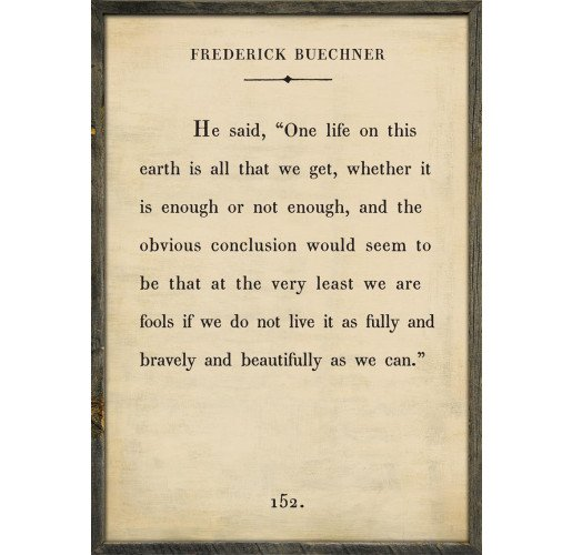 The Book Collection Frederick Buechner Art Print
