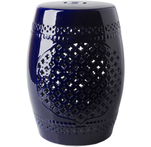 Auburndale Ceramic Stool - Blue