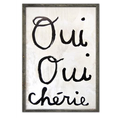 Oui Oui Cherie Wall Art from belleandjune.com | Wall Decor