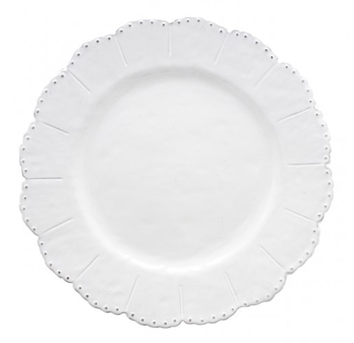 Arte Italica Bella Bianca Beaded Dinner Plate from belleandjune.com | Small Plates