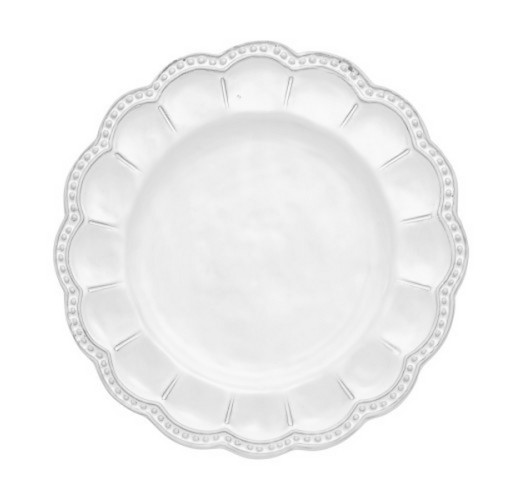 Arte Italica Bella Bianca Beaded Salad Plate from belleandjune.com | Small Plates