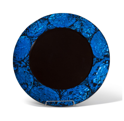 Mother of Pearl Blue Charger Plate from belleandjune.com | tabletop