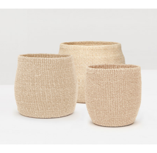 Davao Bleached Baskets from belleandjune.com | Baskets and Storage