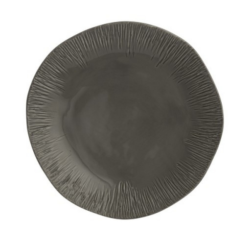 Arte Italica Graffiata Gray Dinner Plate from belleandjune.com | dinnerware