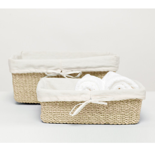 Madison Nested Baskets - Bleached (Set of 2)
