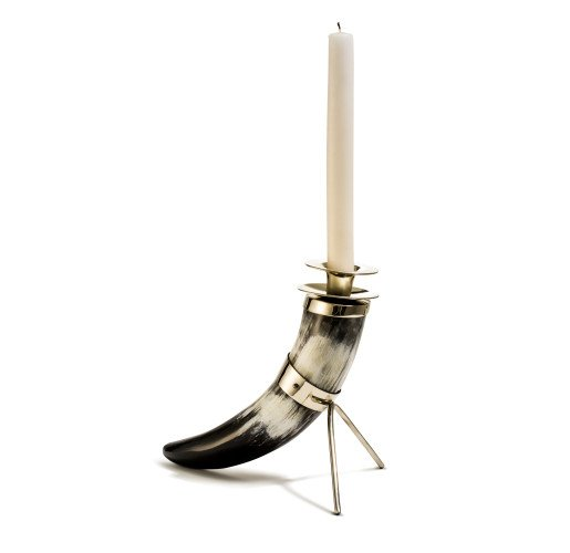 Solitaire Horn Candleholder from belleandjune.com | Candle Holders
