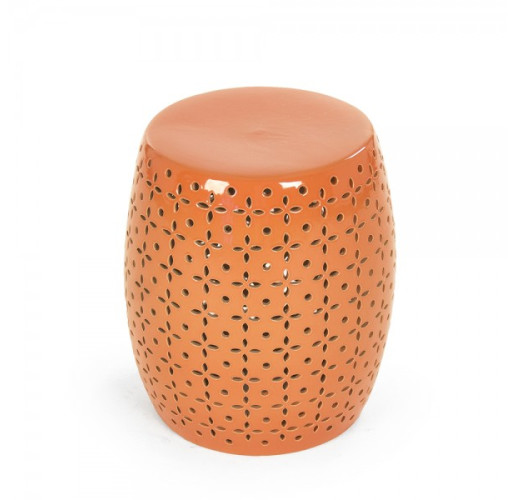 Orange Lovell Garden Stool