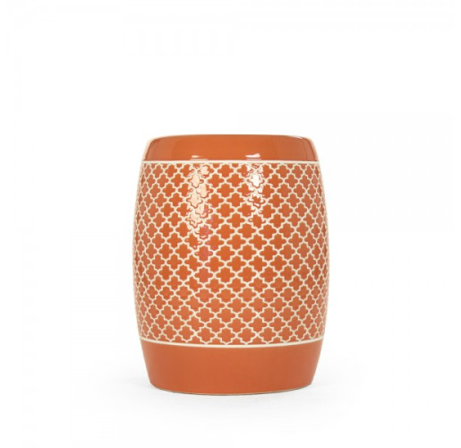 Orange Gable Garden Stool