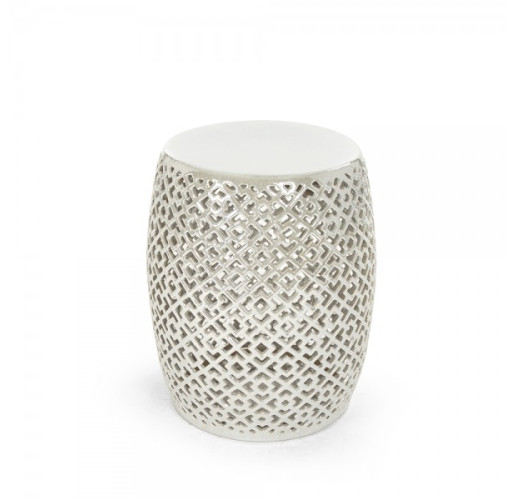 Grey Lorin Garden Stool