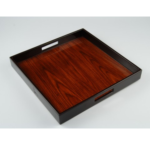Square Rosewood Serving Tray from belleandjune.com | Serving Tray