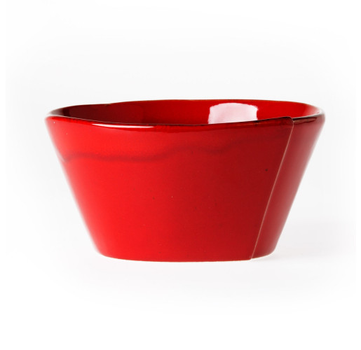Vietri Lastra Red Stacking Cereal Bowl from belleandjune.com | Tabletop