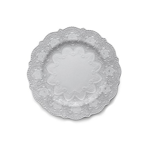 Arte Italica Merletto White Dinner Plate