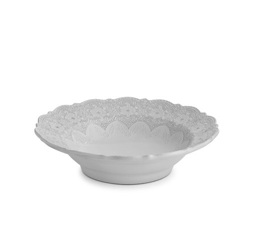 Arte Italica Merletto White Serving Bowl