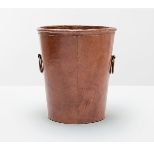 Ogden Wastebasket Tobacco Leather
