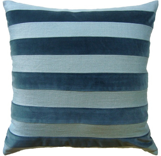 Parker Stripe Pillow - Spa
