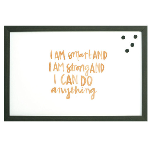 I Am Smart Watercolor Magnet Board