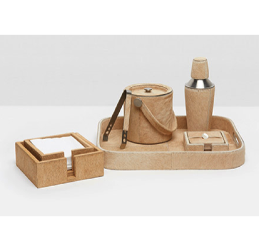 Browmley Beige Bar Set from belleandjune.com | Tabletop