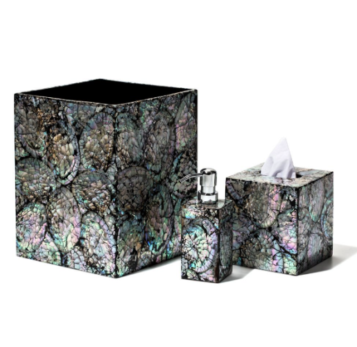 Mother of Pearl Bathroom Set