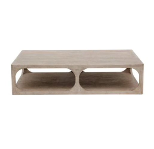 Belle and June Handcrafted Ming Reclaimed Wood Coffee Table