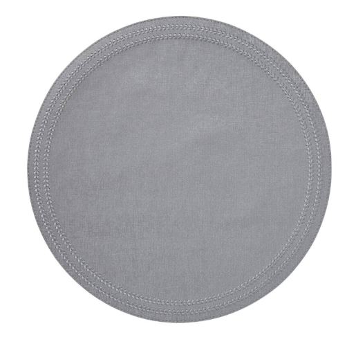 Paloma Silver Round Placemats S/4 from belleandjune.com | tabletop