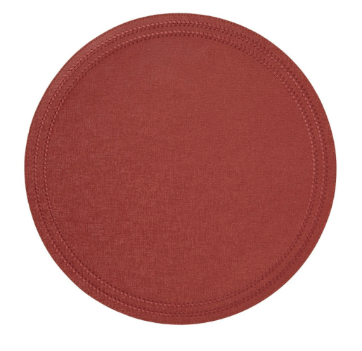 Paloma Coral Round Placemats S/4 from belleandjune.com | tabletop