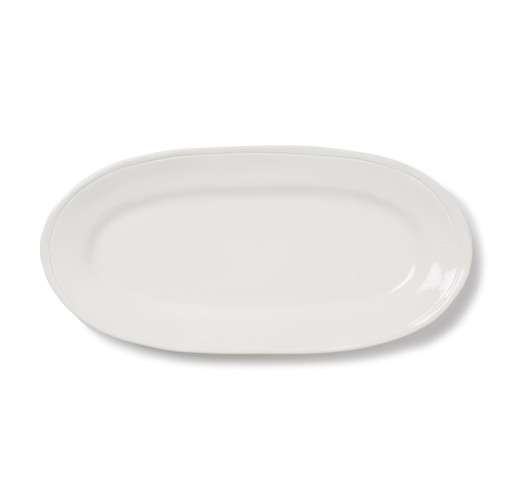 Buy Viva Fresh White Narrow Oval Platter by belleandjune.com | Serveware