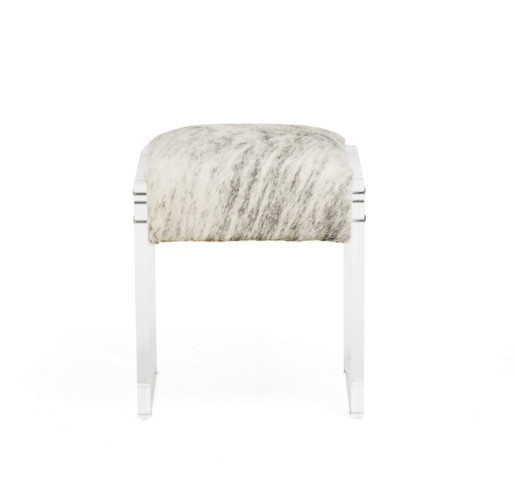 Fabulous Cowhide Acrylic Vanity Stool Pabps2019 Chair Design Images Pabps2019Com