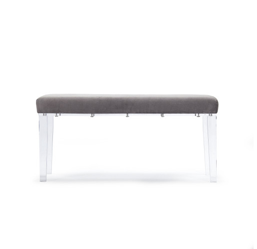 Emma Acrylic Bench - Dark Grey
