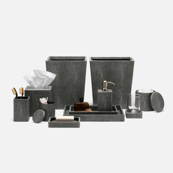 tenby cool grey bathroom accessories | office accessories