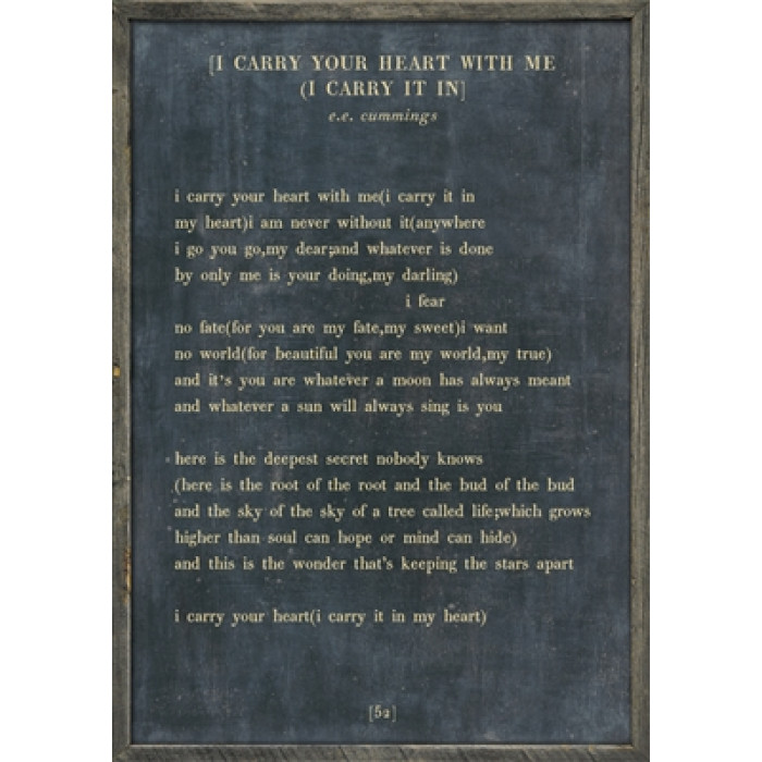 I Carry Your Heart With Me Ee Cummings Poem Typewriter Quote Etsy
