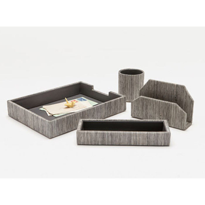 Pigeon And Poodle Napali Desk Accessories Dark Gray