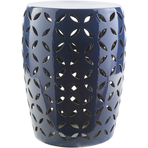 Chantilly Garden Stool   Navy Blue