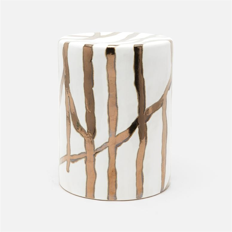 Willow White And Gold Accent Table Home Decor
