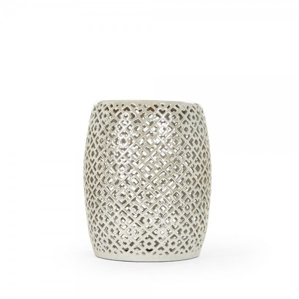 Grey Lorin Garden Stool Furniture At Belleandjune Com