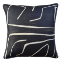 Grafitto Onyx & Beige Decorative Pillow from belleandjune.com | decorative pillows