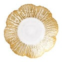 Rufolo Glass Gold Small Shallow Bowl by belleandjune.com | tabletop