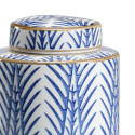 Blue and White Decorative Canisters from belleandjune.com | Decorative Canisters