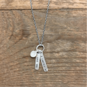 Sterling Silver Necklace - Love You X Forever from belleandjune.com | jewelry