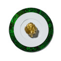 Mother of Pearl Green Charger Plate from belleandjune.com | tabletop