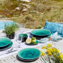 Riviera Azure Dinnerware by belleandjune.com | Tabletop