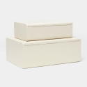 Halia White Faux Decorative Box Set from belleandjune.com | decorative boxes