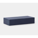 Lowell Large Blue Full-Grain Leather Box (Set of 2) from belleandjune.com | Storage Box