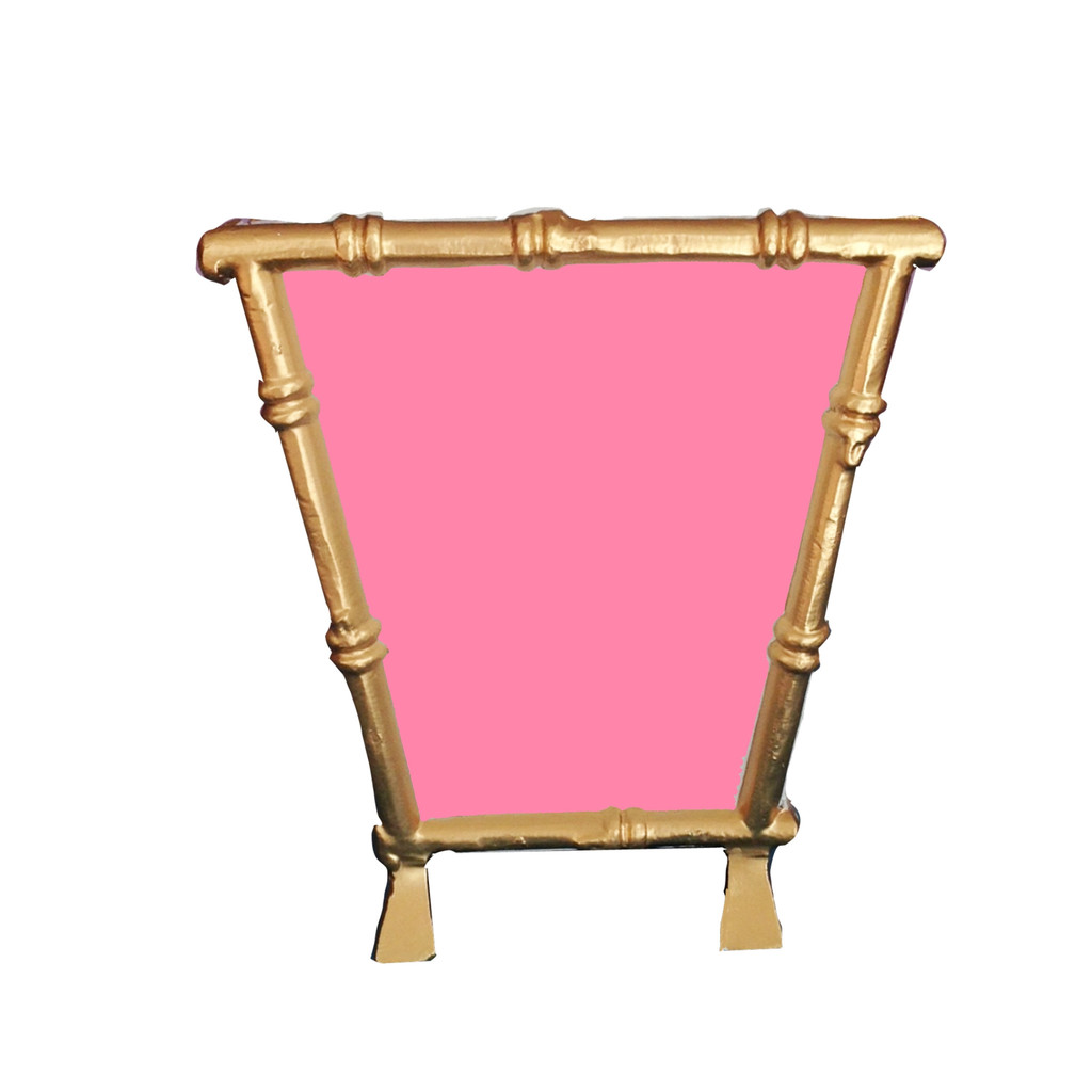 Bamboo Cachepot in Pink