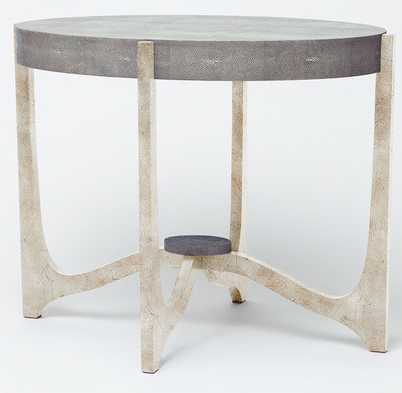 Dexter Side Table Cool Gray Shagreen